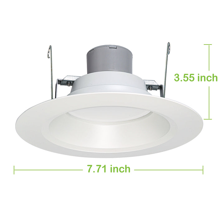 Juno 5/6 in. Dimmable LED Recessed Lights, Wet Rated Retrofit Can Light, CRI90, 10W, 650lm, 3000K, 12 Pack