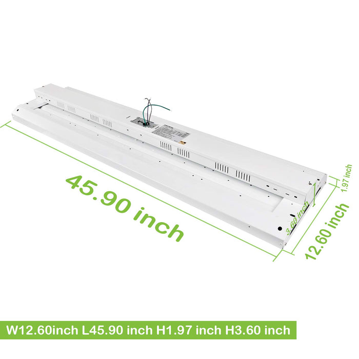 4 ft. 321W Linear LED High Bay Light Fixture, 42250 lm 5000K, Equivalent to 10-Lamp F54T5HO Fluorescent Fixture