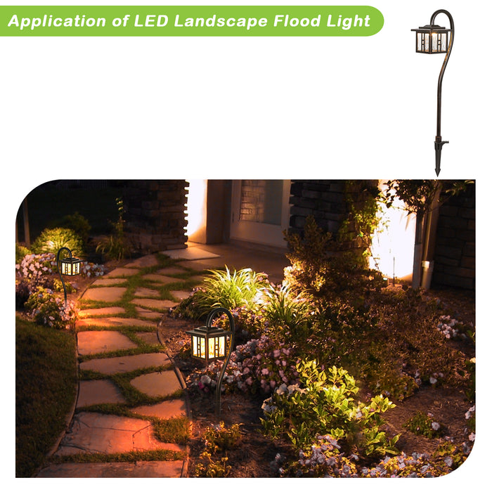 Low-Voltage Outdoor Integrated LED Landscape Lighting, 3W 185LM Oil-Rubbed Bronze Pathway Light for Yard Lawn, Die-Cast Aluminum Construction, 4-Pack, ETL Listed, 15-Year Lifespan