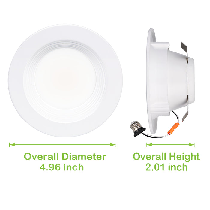 4 in. Dimmable LED Recessed Down Light, 9W 600 lm 4000K, CRI90, 4 Pack Gen 3