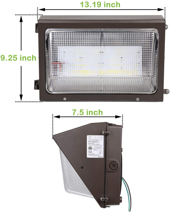 LED Wall Pack, 90W 11700lm 5000K Daylight