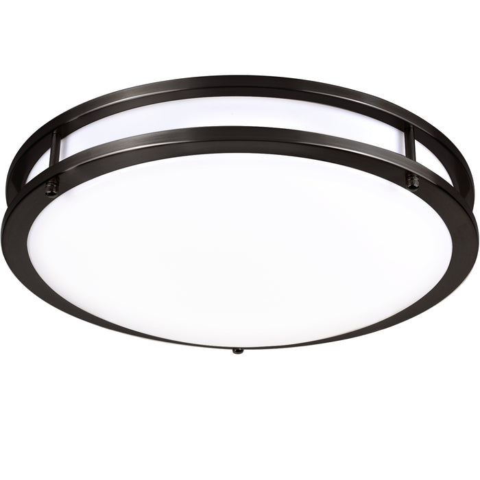 14 Inch LED Saturn Ceiling Light, 20W 1350lm 4000K, Dimmable, Oil Rubbed Bronze Finish, Flush Mount