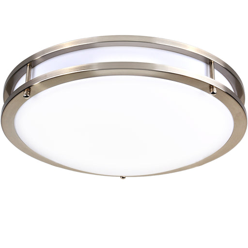 14 Inch LED Saturn Ceiling Light, 20W 1350lm 4000K, Dimmable, Brushed Nickel Finish, Flush Mount