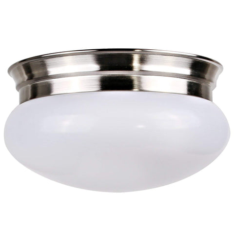 9 in. 14W Brushed Nickel LED Ceiling Light, 1000 lm 4000K Dimmable Flush Mount Upper Interior Surface Lamp