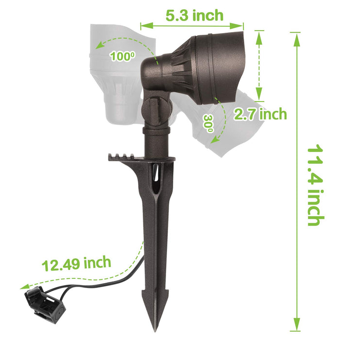 Low Voltage LED Landscape Spot Light Kits, 4.5W 205LM, 4 Pack, Driver & Cable NOT Included