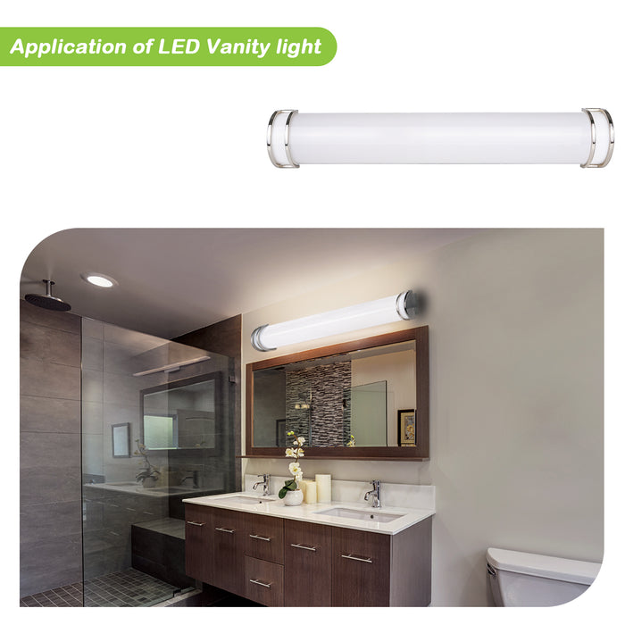 48 Inch 35W LED Vanity Light bar for Bathroom, 2450lm 4000K Natural White, Dimmable, Brush Nickel Finish