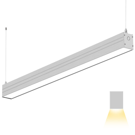 4FT 40W Linkable LED Architectural Linear Light For Office, 4600lm, 5000K Daylight Only, Silver Finish  #Gen2