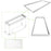 Drop Ceiling Light Surface Mount Kit for 2x4 ft. LED Troffer Flat Panel 2 Pack