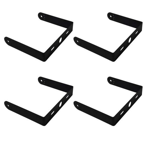 U-Shaped Aluminum Yoke Mounting Brackets with Screws for 100W UFO LED High Bay Light 4-Pack