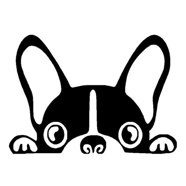 boston terrier vinyl car decal boston terrier foundation rh bostonterrierfoundation com boston terrier clip art images boston terrier clip art free