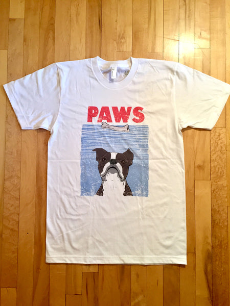 Boston Terrier Paws Tee