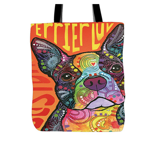 Boston Terrier Handmade Colorful Tote Bag