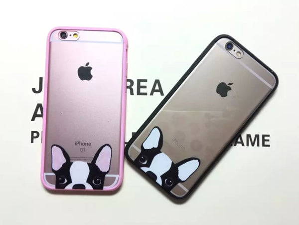 Boston Terrier Transparent iPhone Case
