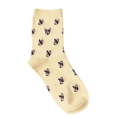 Boston Terrier Vintage Designer Socks