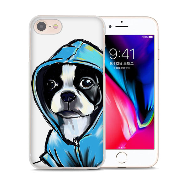 Boston Terrier Water Color iPhone Cases