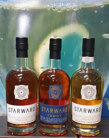 Starward Projects Tawny Cask, Ginger Beer Cask and Bourbon Cask Set