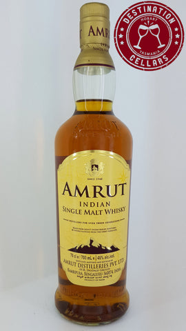 Amrut Unpeated Single Malt Whisky 46% 700ml