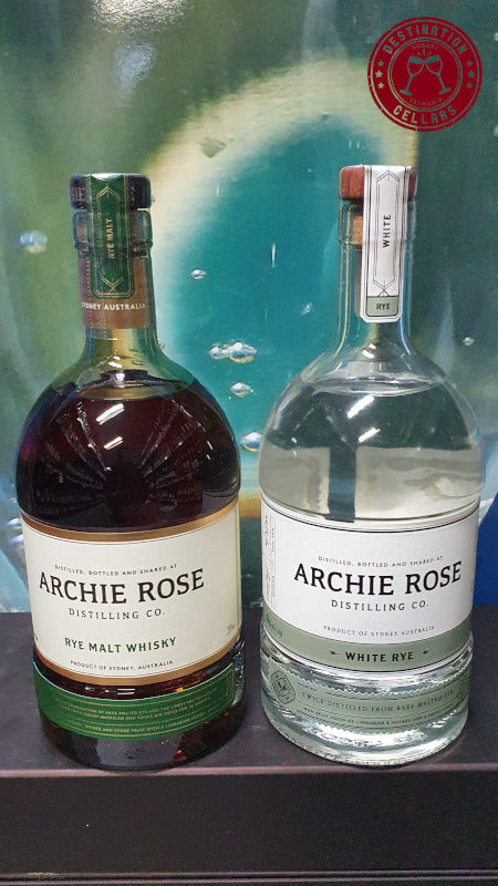 Archie Rose Rye Malt Whisky and White Rye Combo