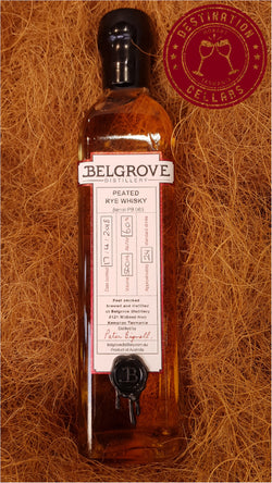 Belgrove Distillery Cask Strength Peated Rye Whisky 60%