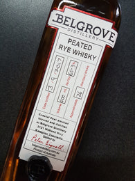 Belgrove Distillery 65.3% Peated Rye Whisky