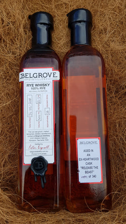 Belgrove Distillery Cask Strength Rye Whisky Matured in EX-Heartwood Cask 65.3%