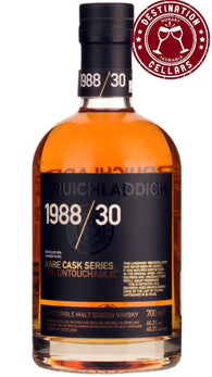 1988 Bruichladdich Rare Cask Series The Untouchable 46.2% 30 Year Old Unpeated Single Malt Scotch Whisky 700ml