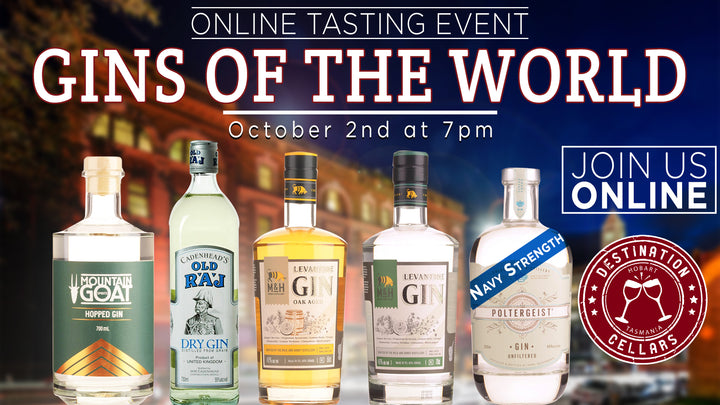 Gins of the World ONLINE Event with Destination Cellars October 2nd