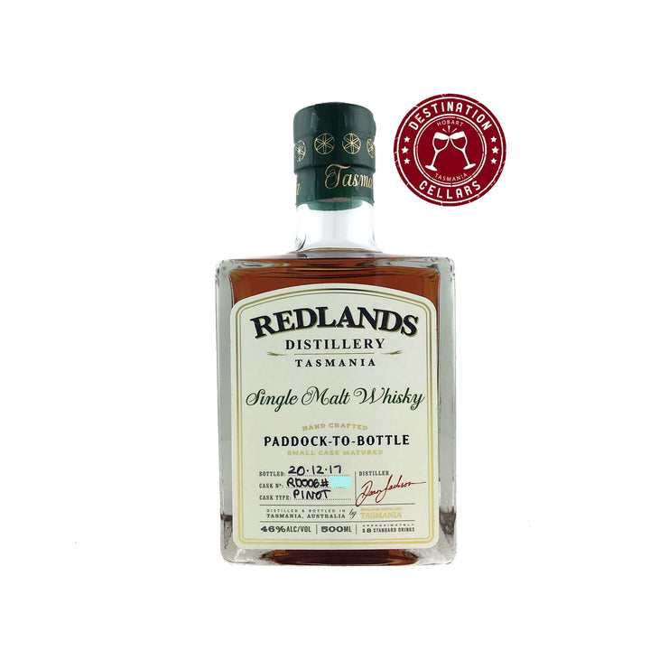 Redlands Paddock to Bottle RD006 Pinot Cask Single Malt Whisky
