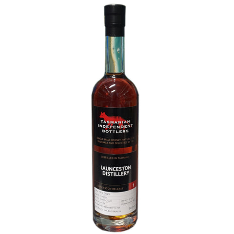 Tasmanian Independent Bottlers L0029 41.1% Tawny Cask Single Malt Whisky 500ml