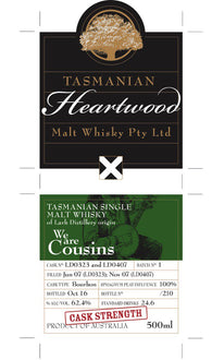 Heartwood We are Cousins 62.4% Single Malt Whisky