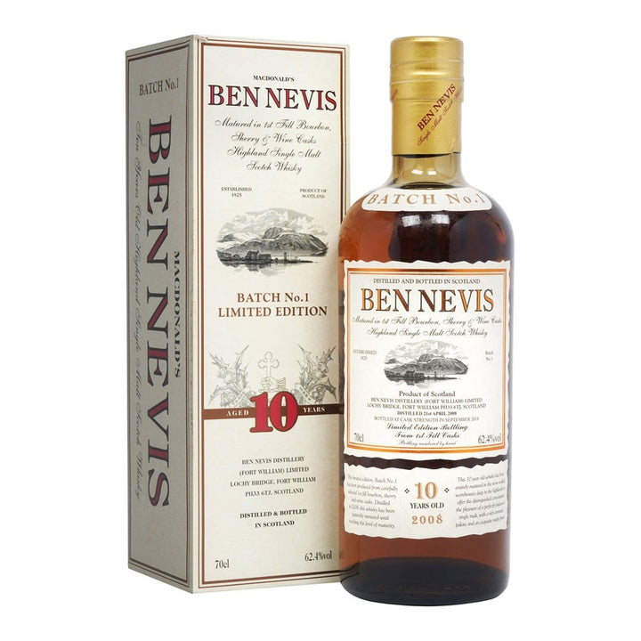 Ben Nevis 62.4% 10YO Batch 1 Single Malt Whisky