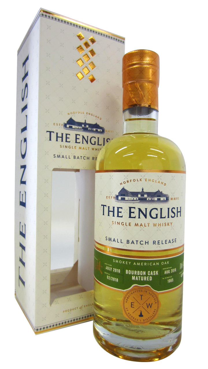 The English Whisky Co. 'Smokey Oak' Small Batch 46% Bourbon Cask Single Malt Whisky