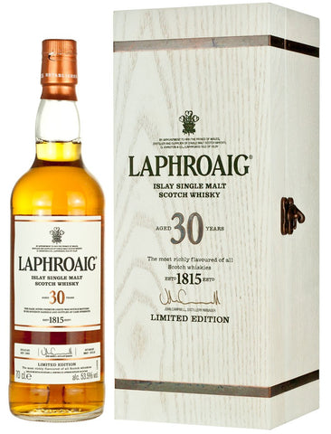 Laphroaig 30YO Limited Edition 53.5% Single Malt Whisky 700ml