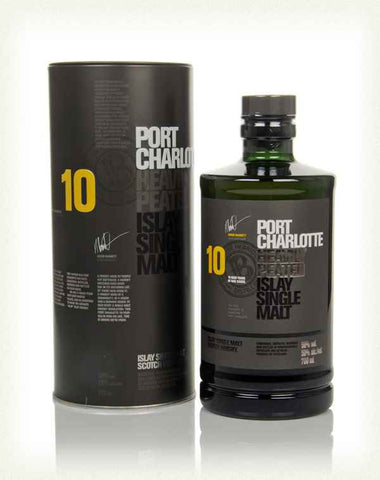 Port Charlotte 10 Year Old Heavily Peated Single Malt Whisky
