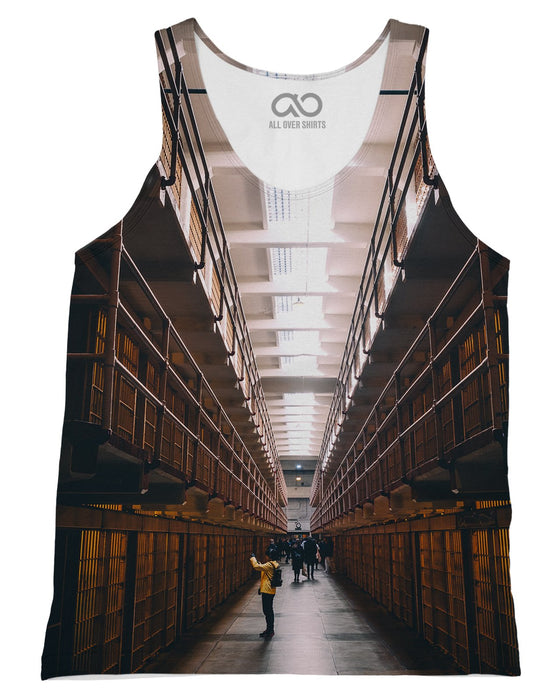 Alcatraz Cells printed all over in HD on premium fabric. Handmade in California.