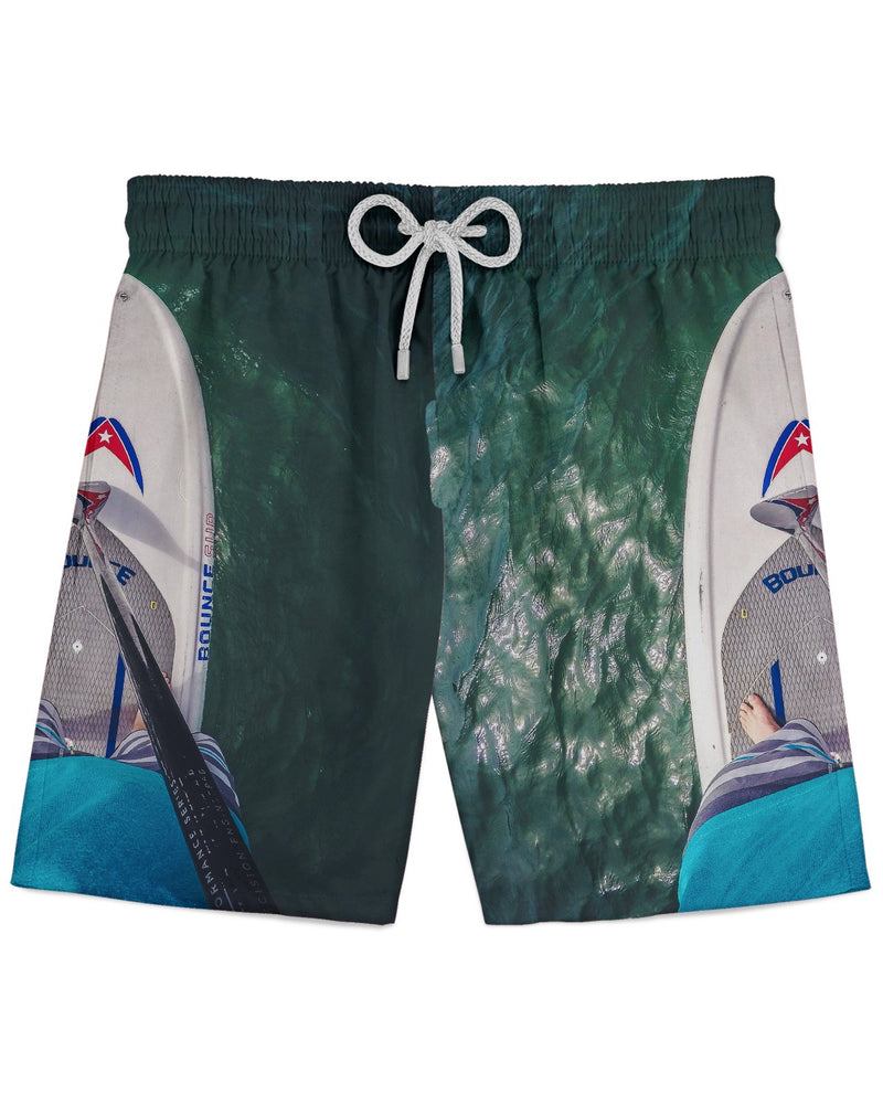 Andrew Paddleboard Feet printed all over in HD on premium fabric. Handmade in California.