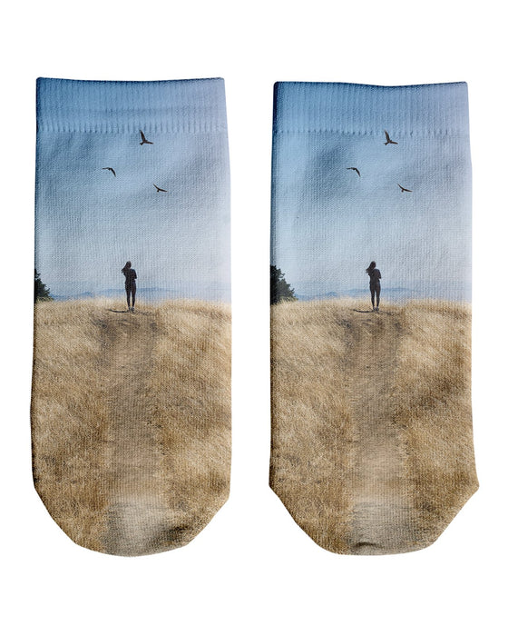 Brittany Birds Sun printed all over in HD on premium fabric. Handmade in California.