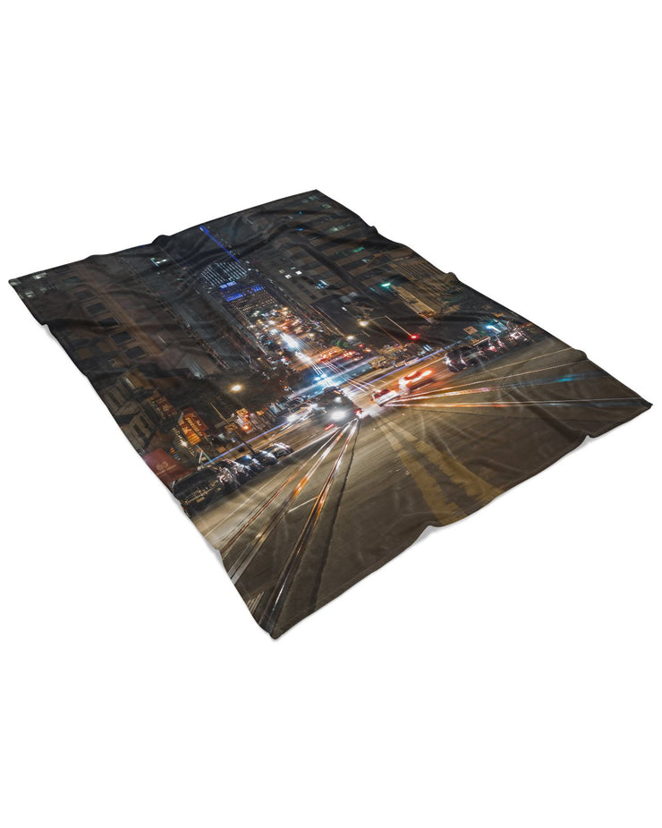 California Street Fluffy Micro Fleece Throw Blanket