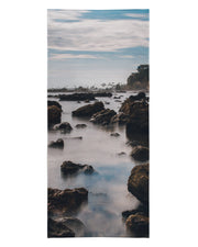 Corona Del Mar Long Exposure Portrait 2 Beach Towel