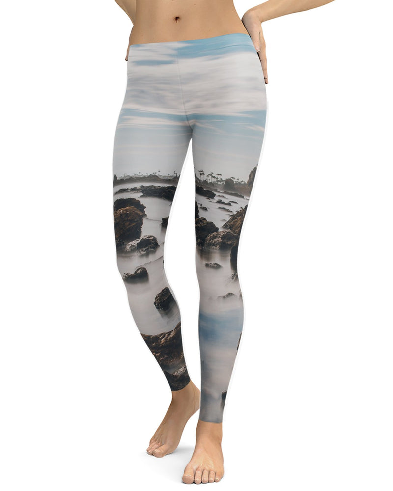 Corona Del Mar Long Exposure Portrait 2 Leggings