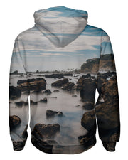 Corona Del Mar Long Exposure Portrait 2 Pullover Hoodie