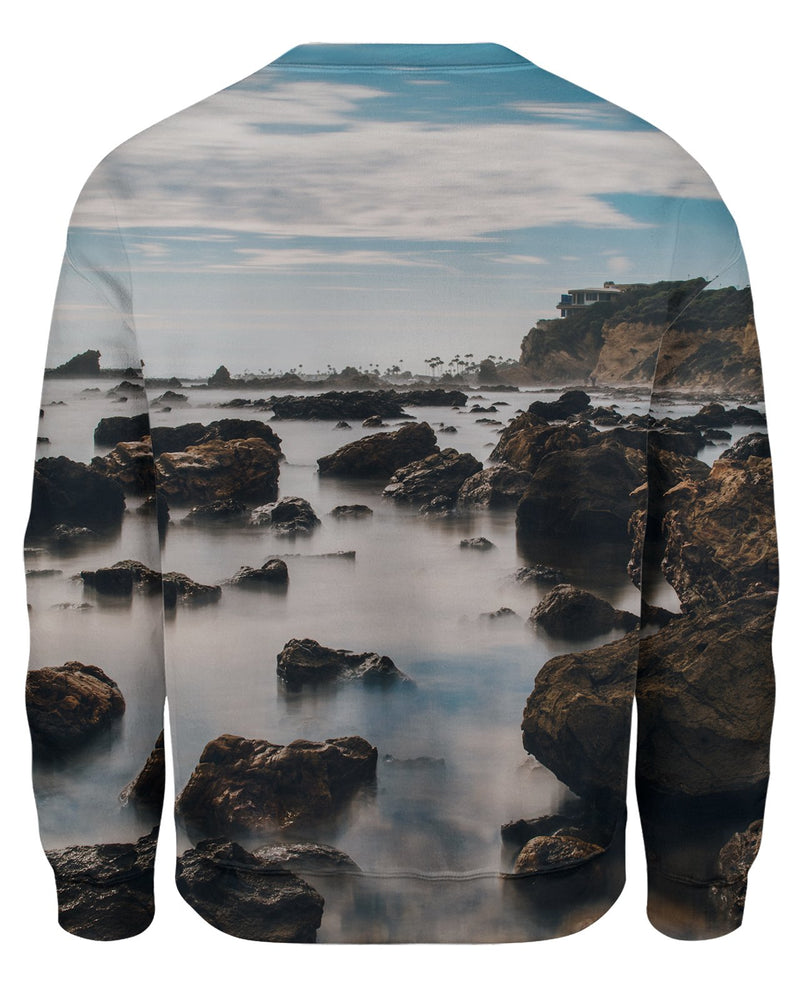Corona Del Mar Long Exposure Portrait 2 Unisex Sweatshirt