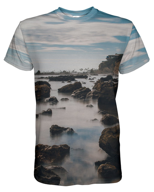 Corona Del Mar Long Exposure Portrait 2 printed all over in HD on premium fabric. Handmade in California.