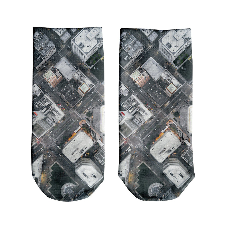 Oakland Streets From Above Ankle Socks