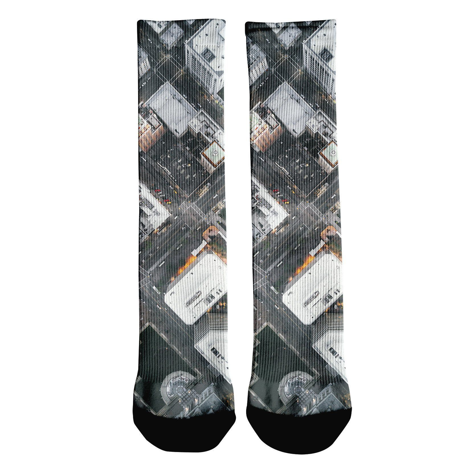 Oakland Streets From Above Crew Socks