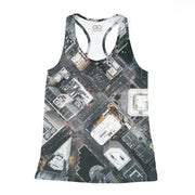 Oakland Streets From Above Racerback Tank