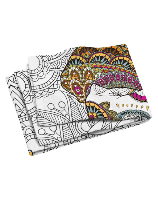Coloring Book Beach Towel