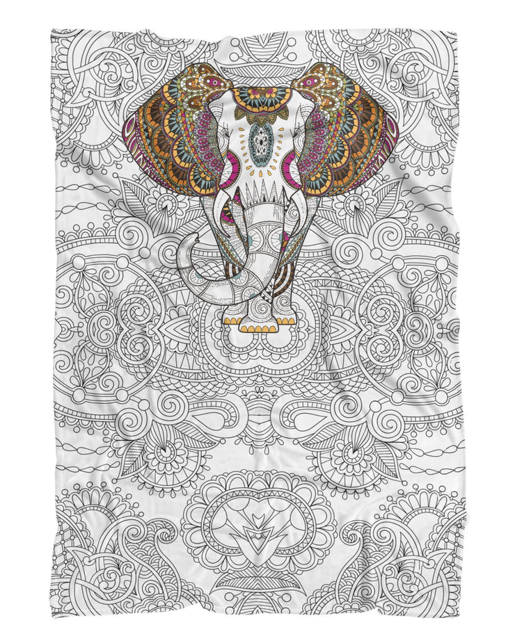 Coloring Book printed all over in HD on premium fabric. Handmade in California.