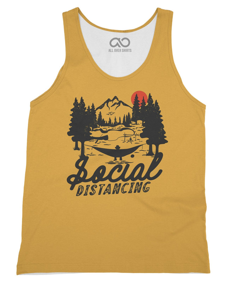 Social Distancing printed all over in HD on premium fabric. Handmade in California.