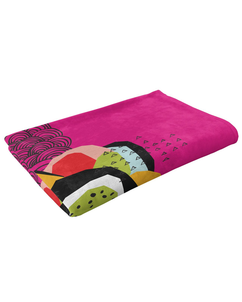 FLOZ Fluffy Microfleece Throw Blanket